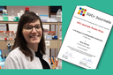 IUCr Journals Poster Prize awarded to NARILIS PhD student Elise Pierson at the Belgian Crystallography Symposium 2021!