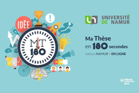 "Two NARILIS PhD students nominated to represent the UNamur at the Belgian interuniversity final of ""Ma thèse en 180 secondes"""